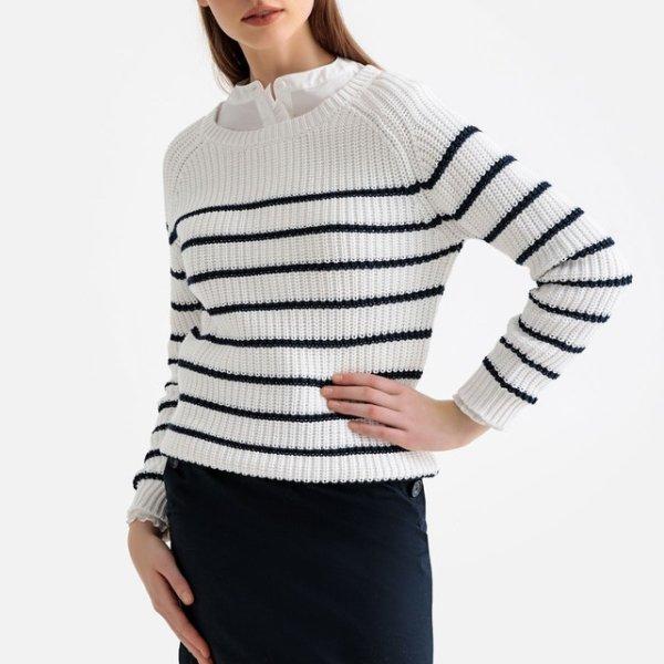 striped sweater 10 Euros (it was 49,99 Euros), on La Redoute Fr online