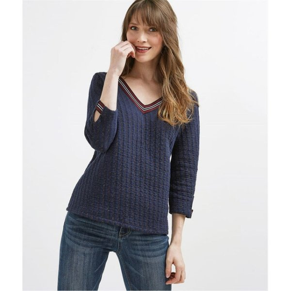 ribbed sweater 8,99 Euros (it was 29,99 Euros), on La Redoute Fr online