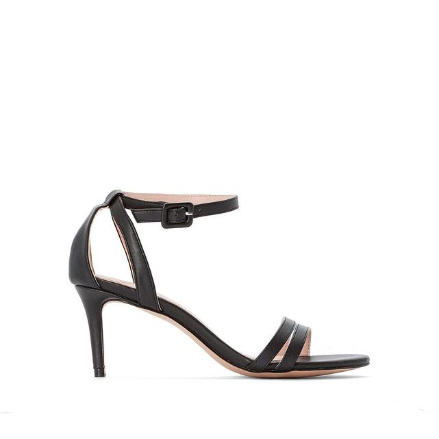 sandalo nero con cinturino alla caviglia