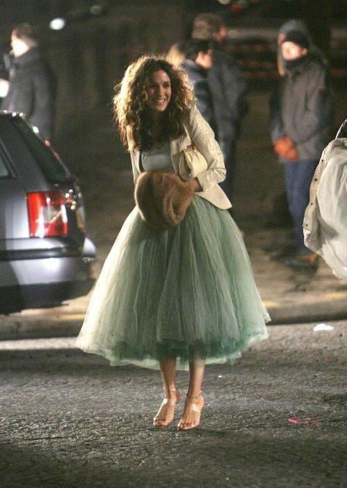 Una fantastica Carrie Bradshaw con la gonna in tulle, Pinterest
