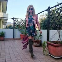 abito fiori e cuissard