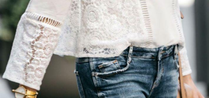 camicia bianca e jeans
