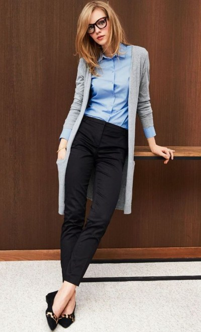 office look with the cardigan, Pinterest