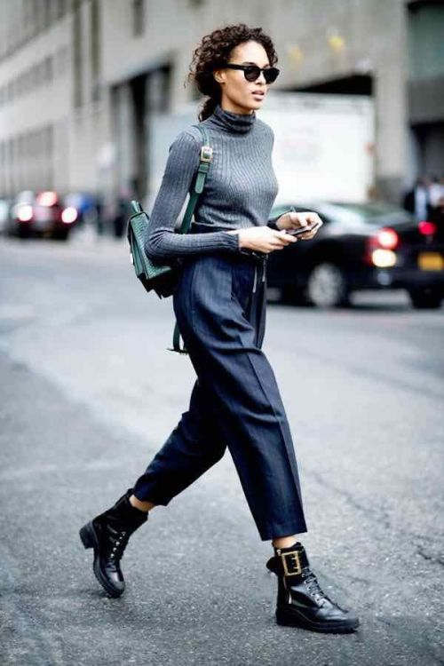elegant trousers and combat boots, Pinterest