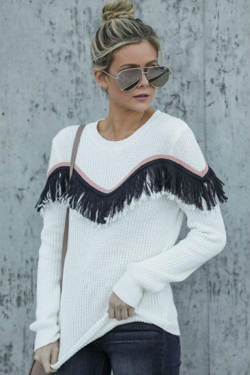 maglia con frange, Pinterest