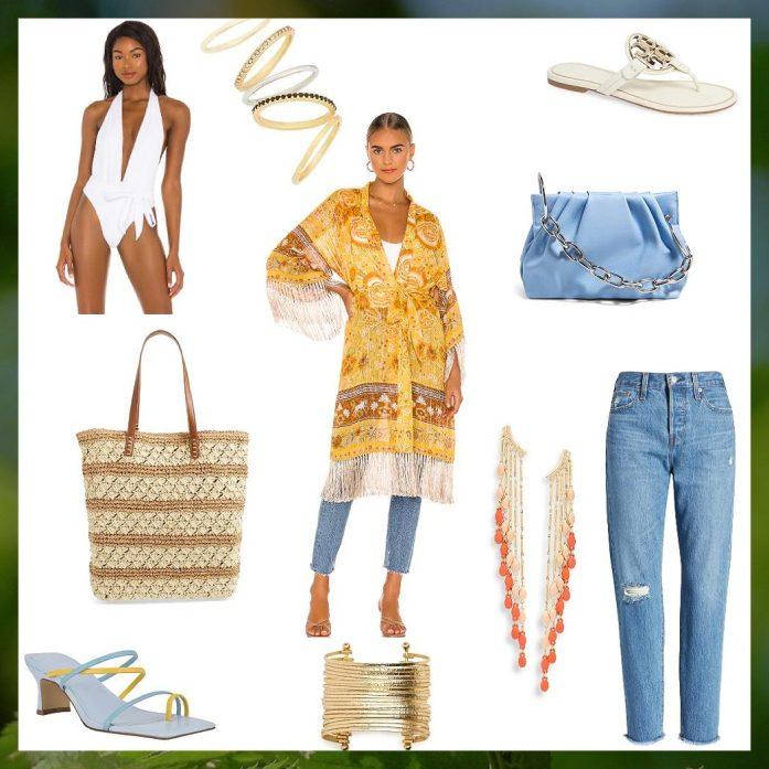 kimono outft for your beach holida looks