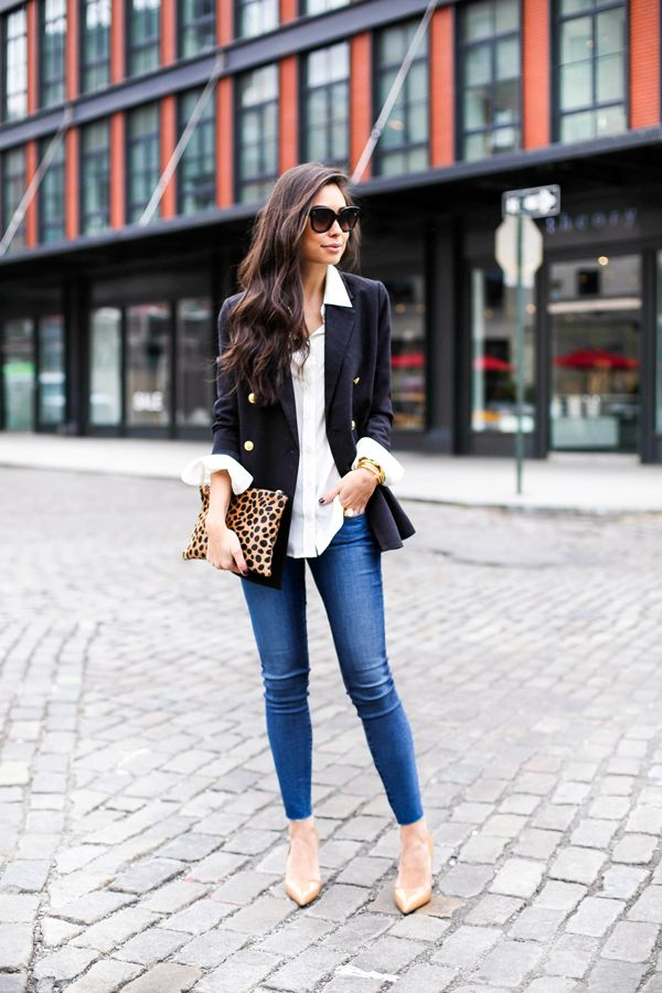 Pinterest, day to night outfit with the white shirt