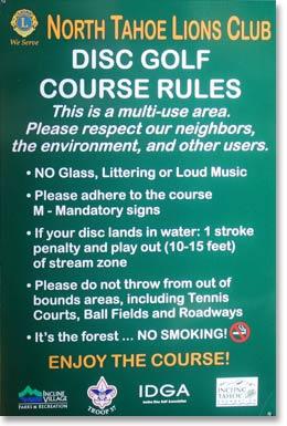 Disc Golf Course  Incline Village General Improvement