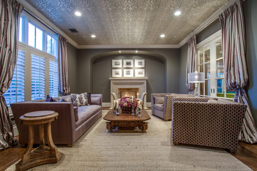 Wallpaper for the Fifth Wall: A Modern Fix for Popcorn Ceilings?