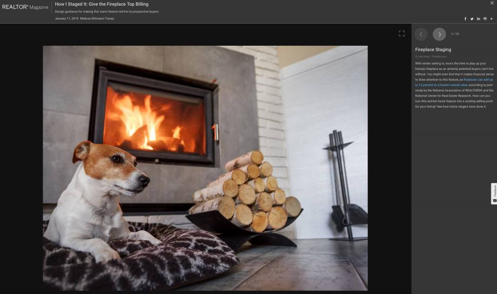 How I Staged it: The Fireplace