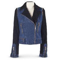 Denim & Lace Moto Jacket