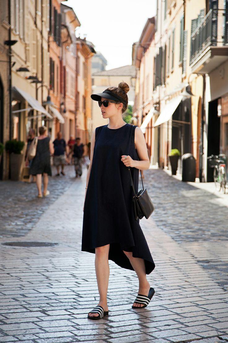 black-high-low-dress