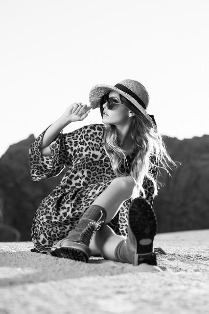 leopard dress & boots