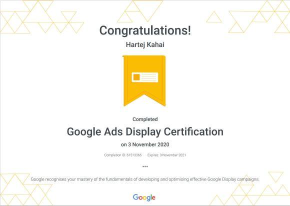 GoogleAds Display Certification _ Google