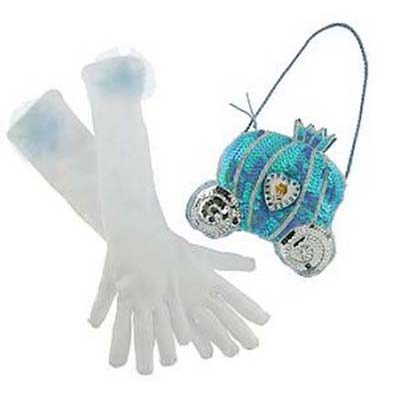 Disney Costume  Princess Gloves and Purse Set  Cinderella