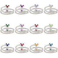Disney Ring - Birthstone Star and Mickey Mouse