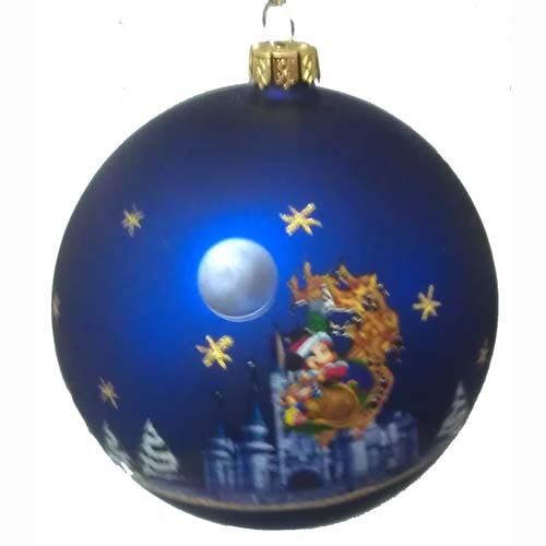 Your WDW Store Disney Glass Ball Ornament Santa Mickey