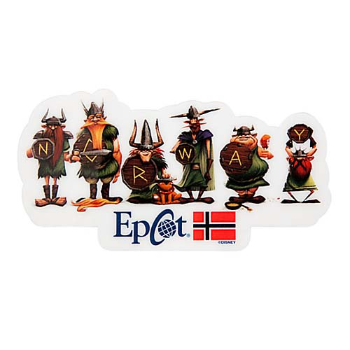 Disney Magnet Norway Pavilion Viking Epcot