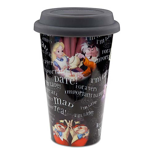 Disney Ceramic Travel Mug Alice In Wonderland