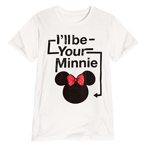 Disney Ladies Shirt Minnie Mouse Tee Ill Be Your Minnie