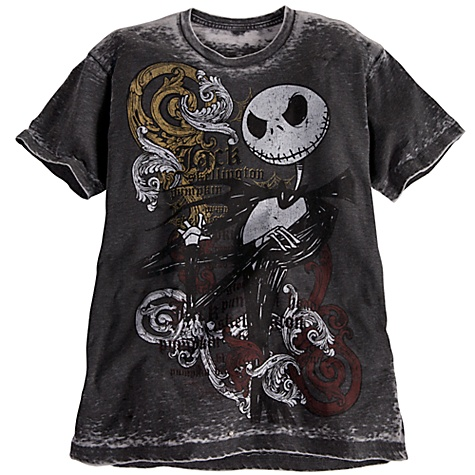 Disney ADULT Shirt Jack Skellington Tee Burnout