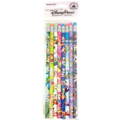 Disney Pencil Set 8 Pack Of Pencils Storybook Characters