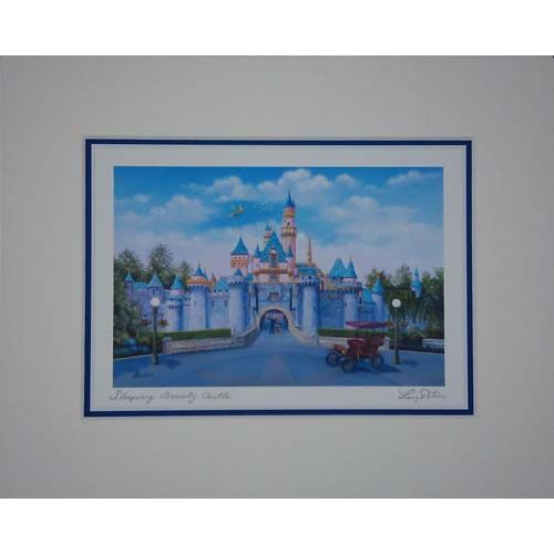 Disney Larry Dotson Print  Sleeping Beauty Castle