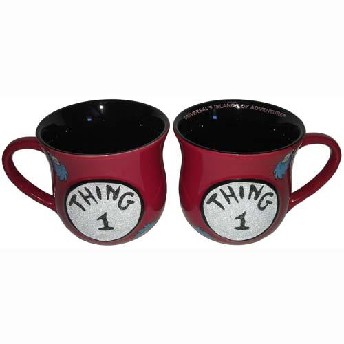 Universal Coffee Cup Mug Dr Seuss Thing 1 Red Beaded