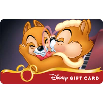 Disney Collectible Gift Card  Chip n Dale  Chipmunk Kiss