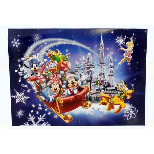 Disney Christmas Cards Mickey And Friends Sleigh