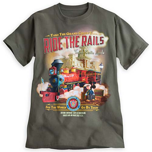 Disney Adult Shirt Disney World Railroad Ride The Rails