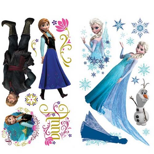 Your WDW Store Disney FROZEN Wall Decal Anna Elsa Olaf