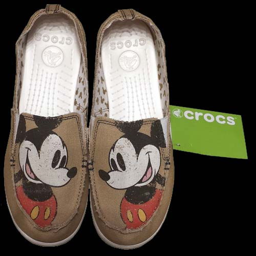 Disney Womens Crocs Shoes Melbourne Mickey Distressed