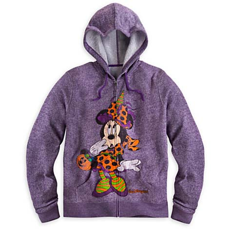 Your WDW Store  Disney WOMENS Hoodie  2014 Halloween  Minnie Mouse Witch