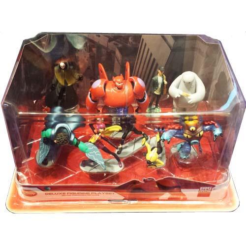 Disney Action Figurine Set  Big Hero 6  Baymax Hiro Wasabi Fred