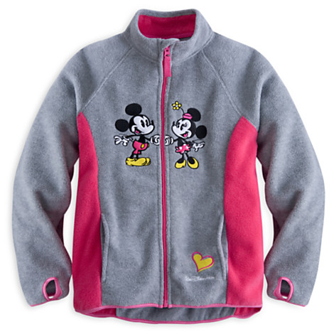 Disney Girls Jacket Mickey And Minnie Mouse Fleece Jacket