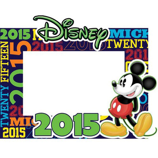 Disney Paper Picture Frames 2015 Mickey Words Picture Frame