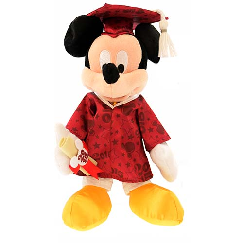 Your WDW Store Disney Plush Mickey Mouse Graduation