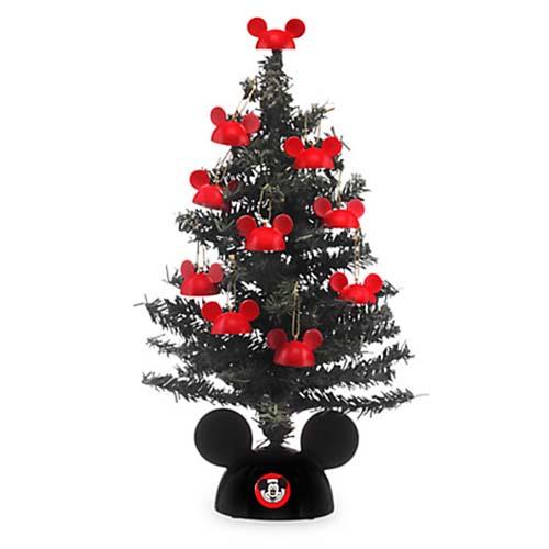 Disney Christmas Tree  Miniature Santa Mickey Tree with