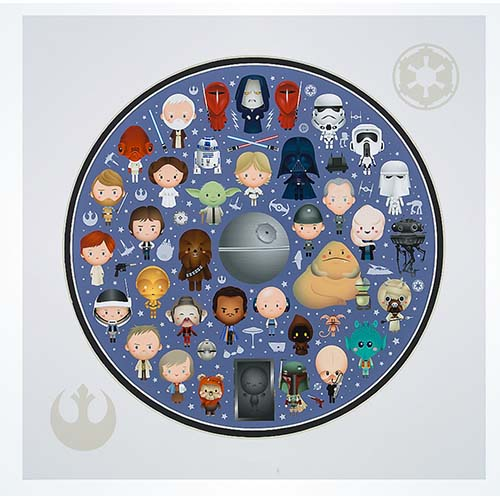 Your WDW Store Disney Jerrod Maruyama Print Galaxy Of Cute