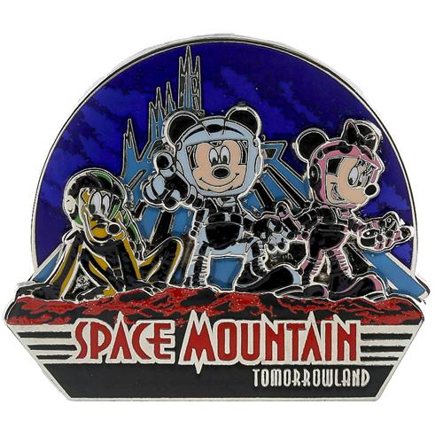 Disney Mickey Pin Space Mountain Mickey Minnie Pluto