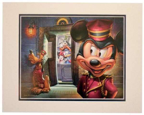 Disney Greg Mccullough Print - Hollywood Tower Hotel