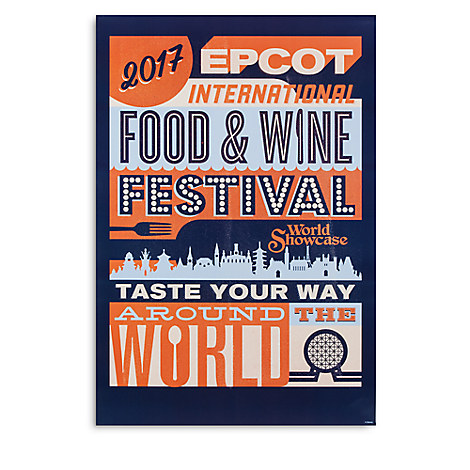 Disney Poster 2017 Epcot Food And Wine Festival Taste