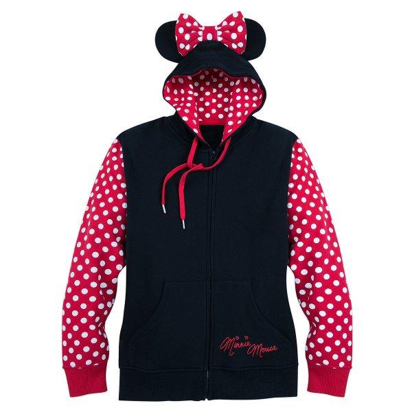 Disney Women' Hoodie - Minnie Mouse Zip Fleece
