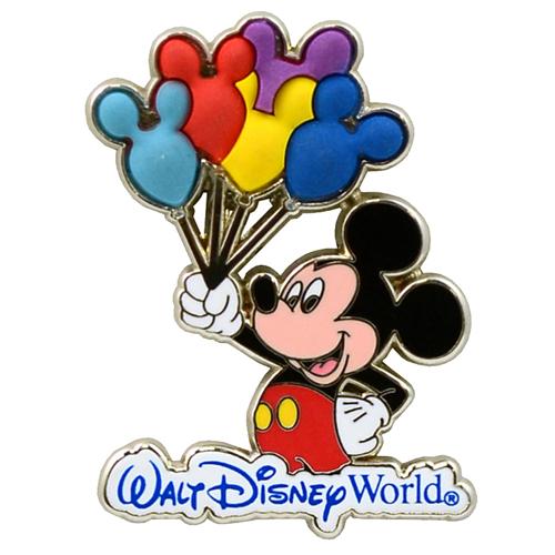 Disney Mickey Pin Mickey Mouse Holding Balloons
