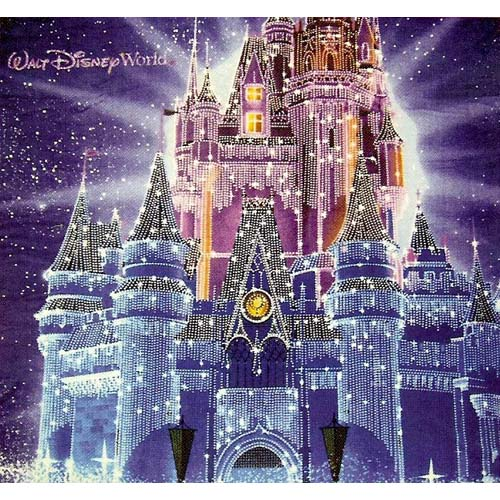 Disney Throw Blanket  Christmas Holiday Castle in Ice