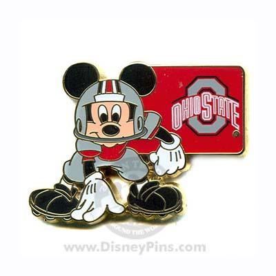 Disney Mickey Pin NCAA Football The Ohio State University