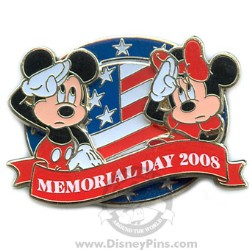 Your WDW Store  Disney Memorial Day Pin  Mickey and