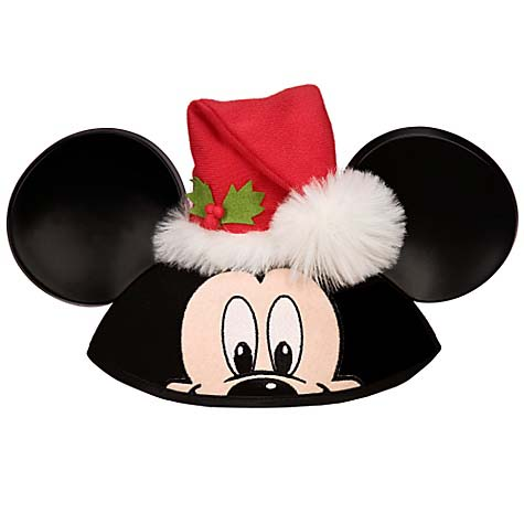 Your WDW Store Disney Hat Ears Hat Santa Mickey Mouse