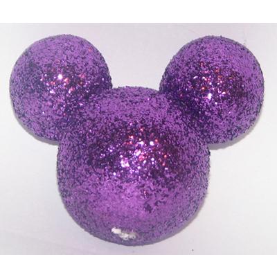 Disney Antenna Topper  Mickey Mouse Ears Icon Purple Glitter